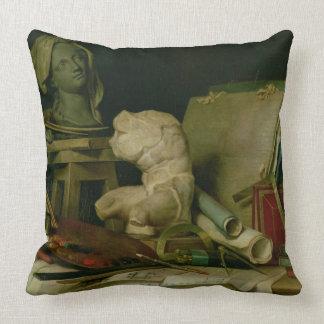 Les attributs des arts, 1769 (huile sur la toile) oreillers