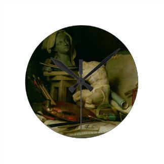 Les attributs des arts, 1769 (huile sur la toile) pendules murales