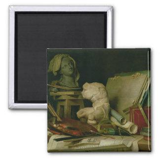 Les attributs des arts, 1769 (huile sur la toile) magnets pour réfrigérateur