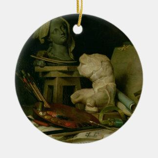 Les attributs des arts, 1769 (huile sur la toile) ornement de noël