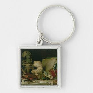 Les attributs des arts, 1769 (huile sur la toile) porte-clé