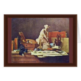 Les attributs des arts et des récompenses seront carte de vœux