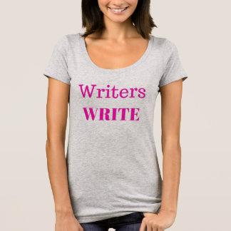 Les auteurs écrivent la copie de rose de T-shirt