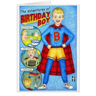 Les aventures de la carte de garçon d'anniversaire