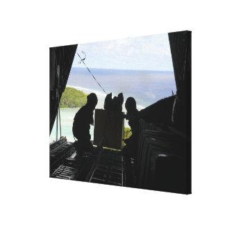 Les aviateurs éliminent une palette des toiles