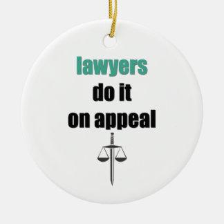 les avocats le font sur l'appel ornement rond en céramique
