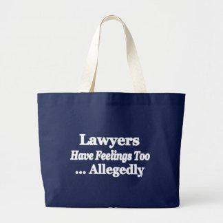 Les avocats ont des sentiments trop… allégué grand tote bag