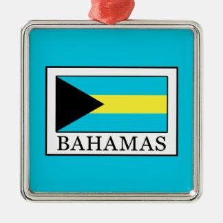 Les Bahamas Ornement Carré Argenté