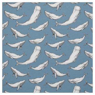 Les baleines sont partout tissu