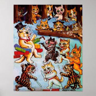 Les bandits du chaton, Louis Wain Poster