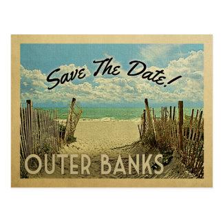 Les banques externes sauvent la plage vintage de carte postale