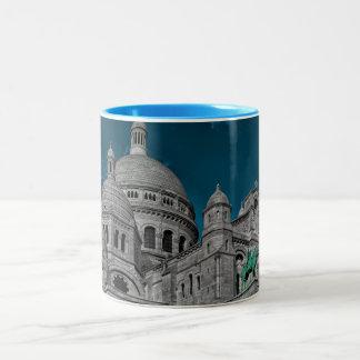 Les basiliques célèbres Sacré Cœur à Paris Mug Bicolore