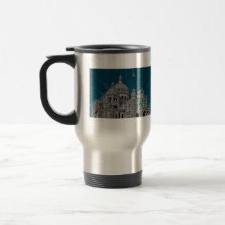 Les basiliques célèbres Sacré Cœur à Paris Mug De Voyage En Acier Inoxydable