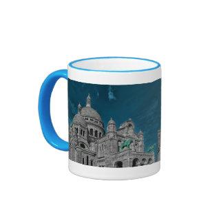 Les basiliques célèbres Sacré Cœur à Paris Mug Ringer