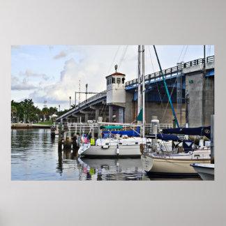 Les bateaux à voile ont accouplé la Floride Posters