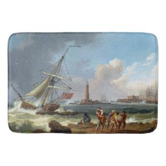 Les bateaux de tondeuse de côte d'océan ont ruiné tapis de bain