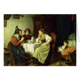 Les bavardages, 1887 carte de vœux