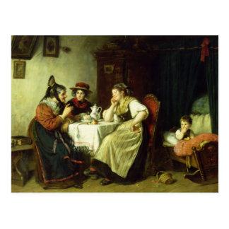 Les bavardages, 1887 carte postale