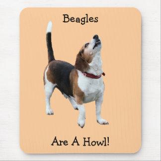 Les beagles sont un chien drôle Mousepad Tapis De Souris