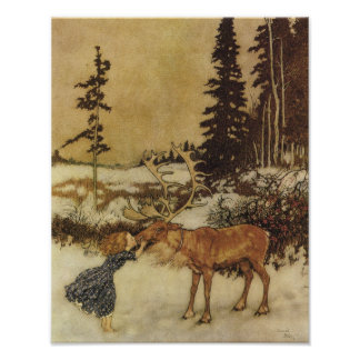 Les beaux-arts de la Reine Edmund Dulac de neige Poster