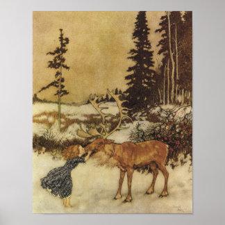 Les beaux-arts de la Reine Edmund Dulac de neige Posters