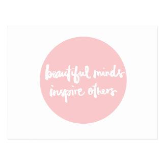 Les beaux esprits inspirent la citation inspirée carte postale