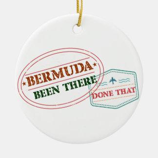 Les Bermudes là fait cela Ornement Rond En Céramique
