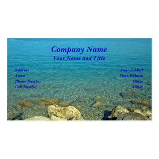Les Bermudes Les eaux de vert bleu Modèles De Cartes De Visite