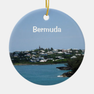 Les Bermudes Ornement Rond En Céramique