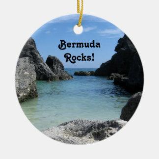 Les Bermudes, roches ! Ornement Rond En Céramique