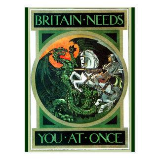Les besoins de la Grande-Bretagne - carte postale