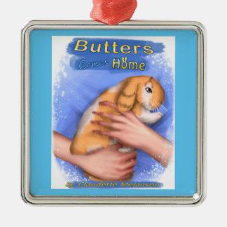 Les beurres vient à la maison ornement de carré de