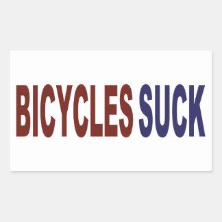 Les bicyclettes sucent autocollants en rectangle