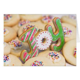 Les biscuits sablés de Noël fait maison apportent Carte De Vœux