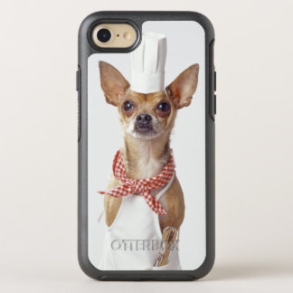 Les blancs du chef de port de chien de chiwawa, coque OtterBox symmetry iPhone 8/7