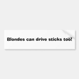 Les blondes peuvent conduire Sticke aussi ! Autocollant De Voiture