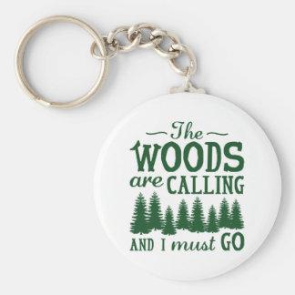 Les bois appellent porte-clé rond