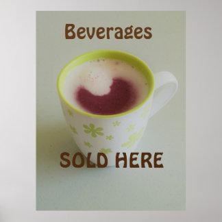 """Les """"boissons vendues ici"""" signent. poster"""