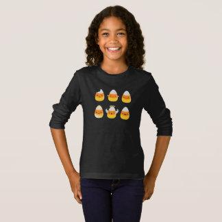 Les bonbons au maïs Emojis à amusement badinent le T-shirt