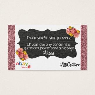 Les bons de livraison floraux de cartes de visite