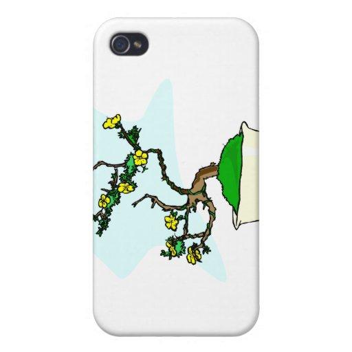 Les bonsaïs de gens de lettres jaunissent des fleu étui iPhone 4