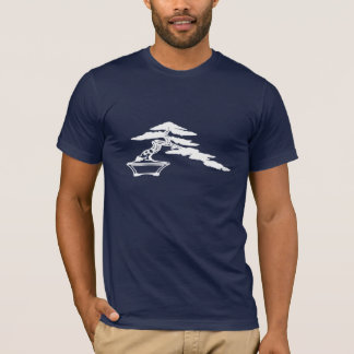 Les bonsaïs silhouettent, style de semi-cascade t-shirt