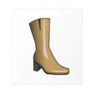 Les bottes de la femme - Emoji Bloc-note