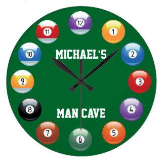 Les boules de billard ont personnalisé l'horloge m
