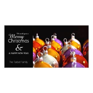 Les boules de Noëls - salutation personnalisée de Photocarte Customisée