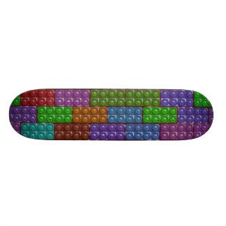 Les briques du constructeur - arc-en-ciel mini skateboard 18,4 cm