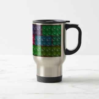 Les briques du constructeur - arc-en-ciel mug de voyage en acier inoxydable