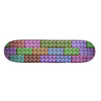 Les briques du constructeur - pastel skateboard 20,6 cm
