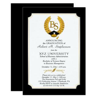 Les BS - Obtention du diplôme d'université de Carton D'invitation 12,7 Cm X 17,78 Cm
