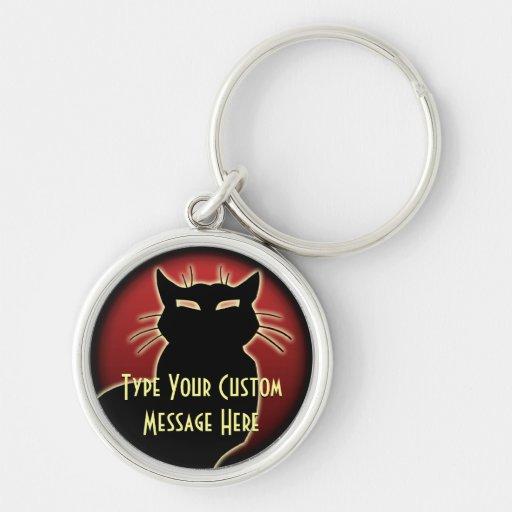 Les cadeaux de chat de Keychain de chat ont person Porte-clefs